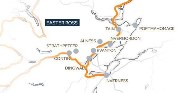 Easter Ross Map