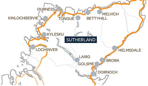 Sutherland Map