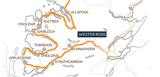 Wester Ross Map